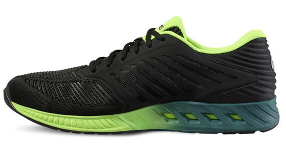 asics fuzeX Shoe Men Black/Silver/Green Gecko